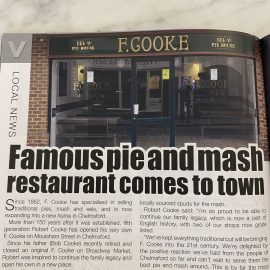 Famous pie and mash